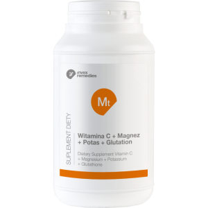 Suplement Witamina C + magnez + potas + glutation (450g)