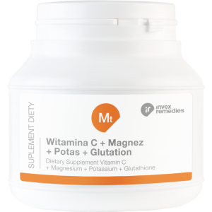 Suplement Witamina C + magnez + potas + glutation (150g)