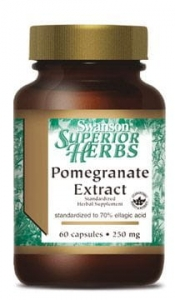 Pomegranate (granat) extract 250mg (60 kps)